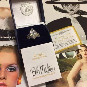 BNWT BOB MACKIE S925 ART DECO DIAMONESK RING 💍